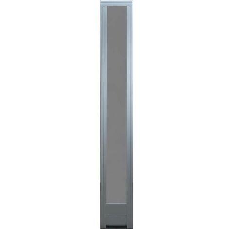 SOLDES-FIXE LATERAL H 215X L40 CM COTE TABLEAU BOIS EXO PREPEINT BLANC