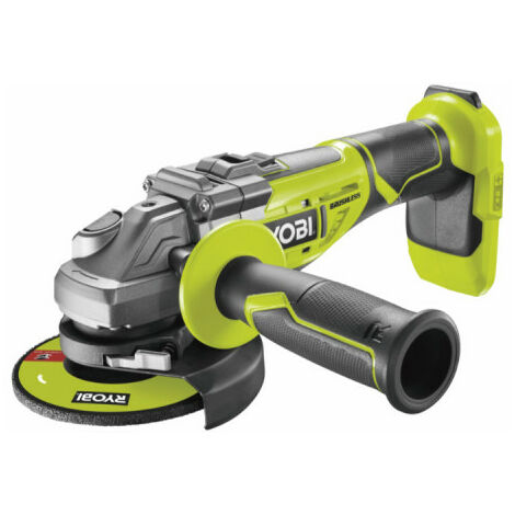 Soldes - Ryobi - Meuleuse d'angle Brushless 125 mm 18 V One+ sans batterie ni chargeur - R18AG7-0 - TNT