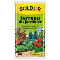 SOLDOR Terreau du Jardinier pour toutesLes plantes du jardin et de la maison - 50L