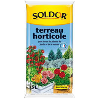 SOLDOR Terreau horticole pour toutesLes plantes du jardin et de la maison - 35L