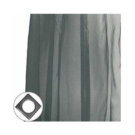 Soleil d\'Ocre 039018 Rideau Irisé à Pattes Polyester Noir 140 x 250 cm