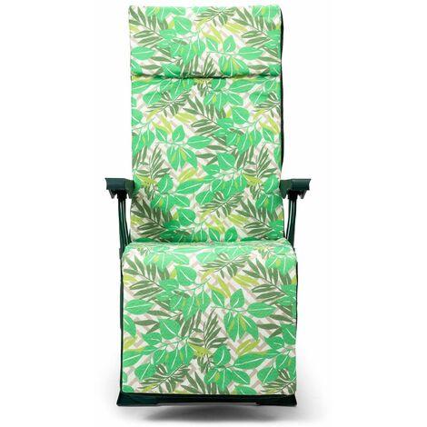 Solenny Fauteuil De Jardin Relax 5 Positions Chaise Longue Rembourrage 3 Cm