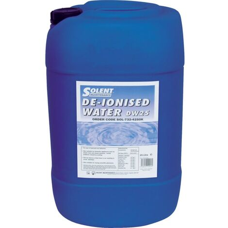 Solent Maintenance DW25 De-ionised Water 25LTR