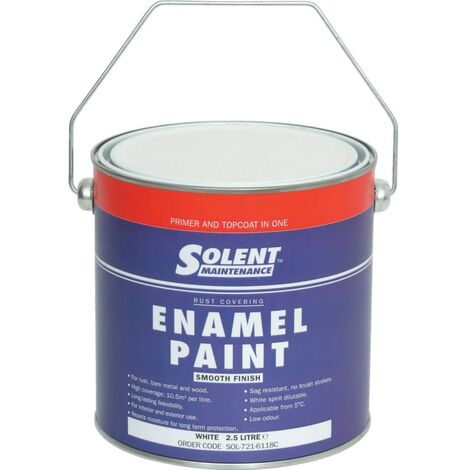 Solent Maintenance RAL3000 Metal Protection Paint Red 2.5LTR
