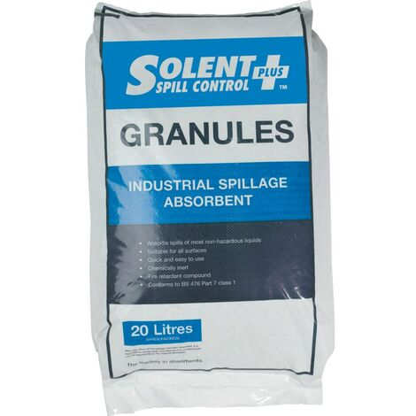 Solent Spill Control Absorbent GRANULES; Clay 20LTR Bag