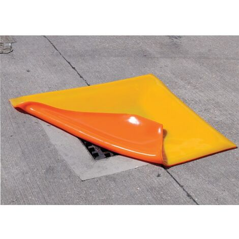 Solent Spill Control Drain Cover Polyurethane 46x46cm Orange