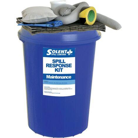 Solent Spill Control Spill Kit S+ Maintenance Circular Bin 90L