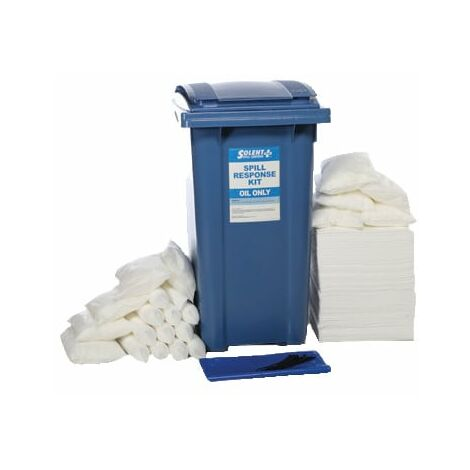 Solent Spill Control Spill Kit S+ Oil Only Wheeled Bin 240L