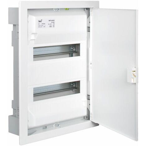 Solera caja de distribucion metálica para 28 elementos 1 fila instalacion empotrada