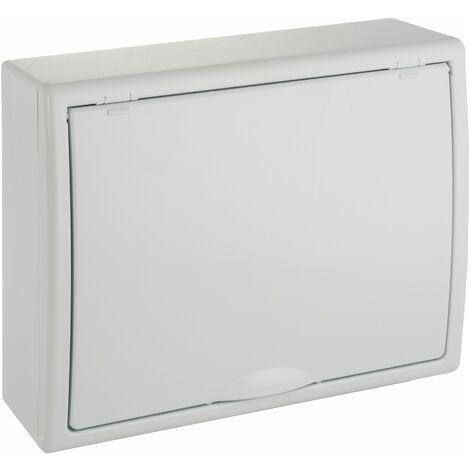 Solera caja de distribucion serie Arelos plastica para 12 elementos 1 fila instalacion en superficie