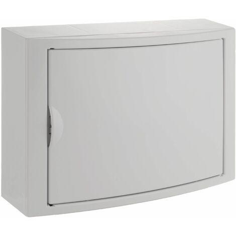 Solera caja de distribucion serie Arelos plastica para 14 elementos 1 fila instalacion en superficie