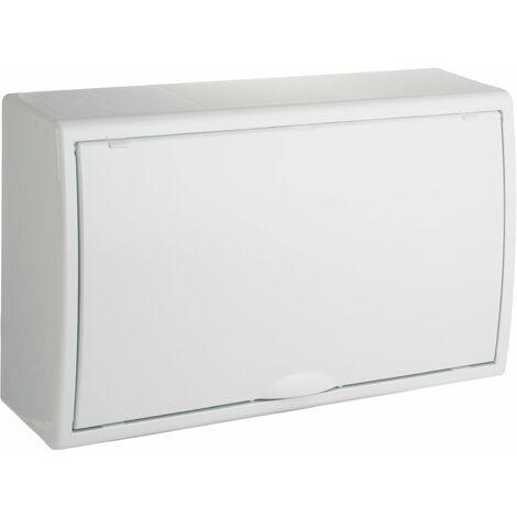 Solera caja de distribucion serie Arelos plastica para 18 elementos 1 fila instalacion en superficie