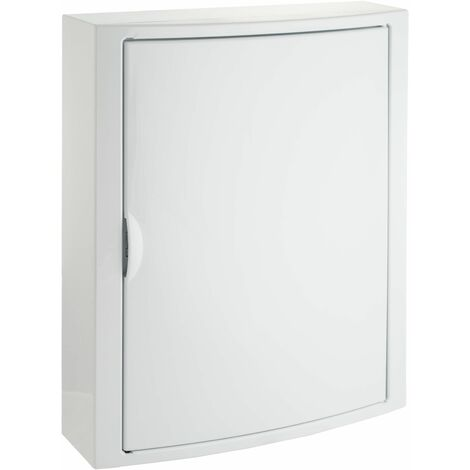 Solera caja de distribucion serie Arelos plastica para 28 elementos 2 filas instalacion en superficie