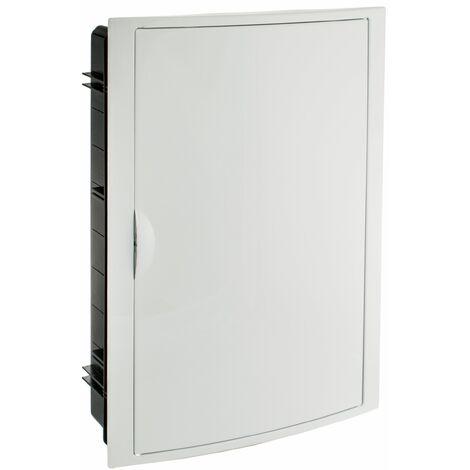 Solera caja de distribucion serie Arelos plastica para 42 elementos 3 filas instalacion empotrada