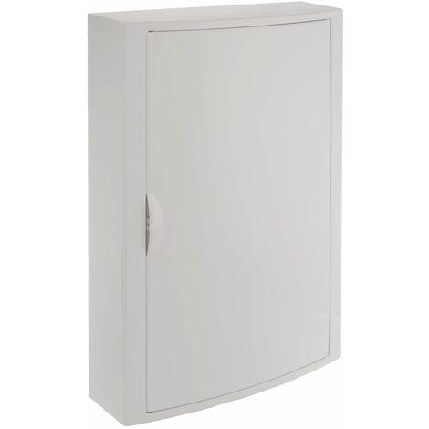 Solera caja de distribucion serie Arelos plastica para 42 elementos 3 filas instalacion en superficie