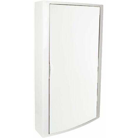 Solera caja de distribucion serie Arelos plastica para 56 elementos 4 filas instalacion en superficie