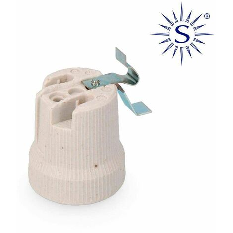 SOLERA Portalamparas porcelana e-27 para plafones solera