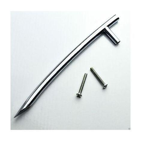 Solid Brass Kitchen Bathroom Cabinet Vanity Door Rod Bow Handles - 190mm