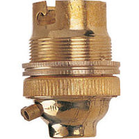 "Solid Brass Lamp Holder Safety Switch 1/2"" Bc B22 Dencon **Fast Postage**"