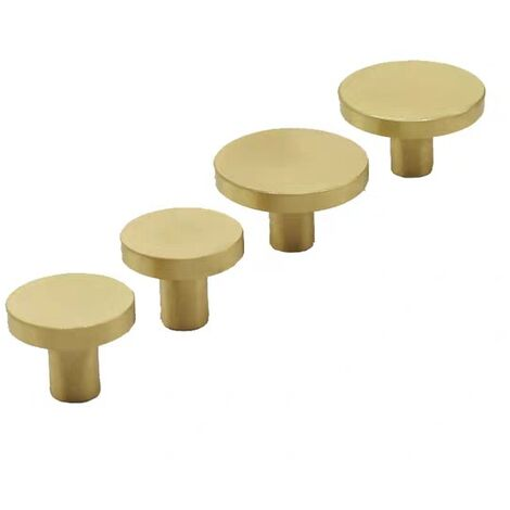 """main image of """"Solid Brass Round Handle, Gold Drawer knobs ,Cabinet knobs,for Cabinet Door, Wardrobe Door, Dresser Drawer and Home Dcoration, Gold [20MM*25MM]"""""""