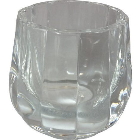Solid Glass Tealight Holder Clear