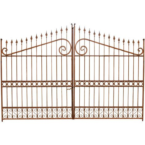 Solid iron made W402xDP4xH263 cm sized gate