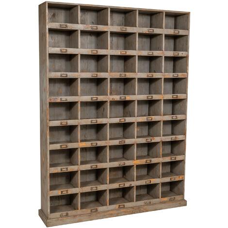 Solid oak bookcase L154xPR33xH105 cm