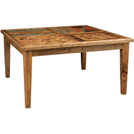 Solid rectangular or square Country Shabby dining table tavern office smoking meeting room