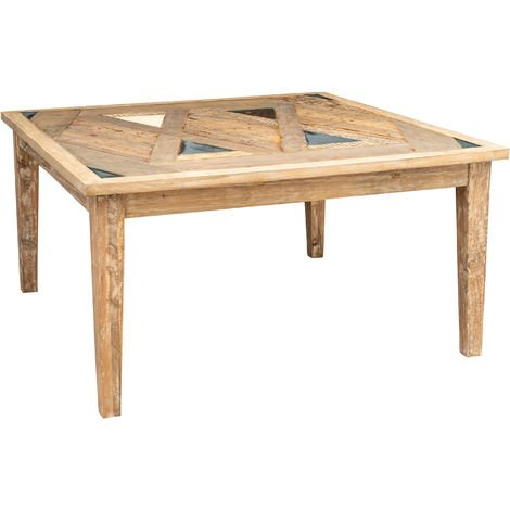 Sólida mesa de comedor rectangular o cuadrada Country Shabby taberna oficina fumador sala de reuniones