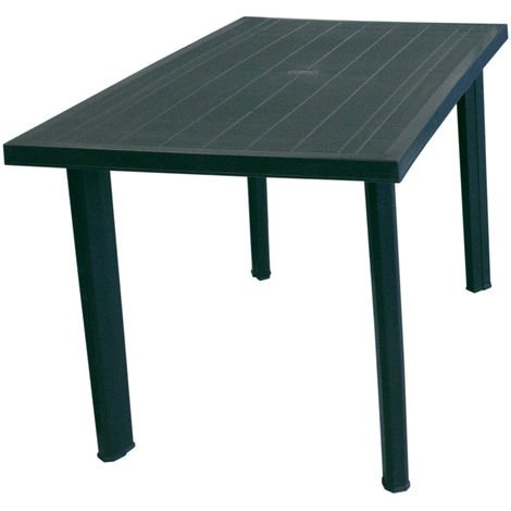 Solider Gartentisch Kunststofftisch 125x75cm Campingtisch Beistelltisch Esstisch Gartenmöbel Campingmöbel Terrassenmöbel Grün