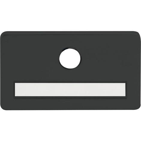 SOLIDO Namensschild vorgerichtet für Spion, mit 14 mm Bohrung, schwarz