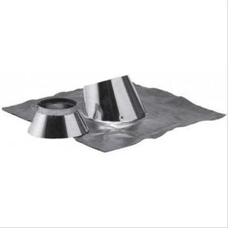 Solin 30/45° double paroi inox/inox 80/130