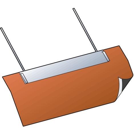 Solin condensor inox tuile ocre 30 a 45° 80/130