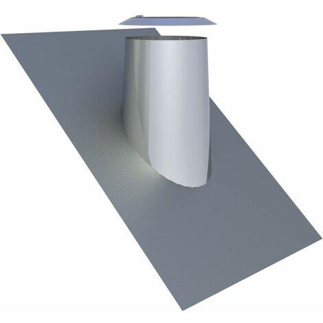 Solin de toit avec bord en plomb 36-45° Diam 200 mm inox