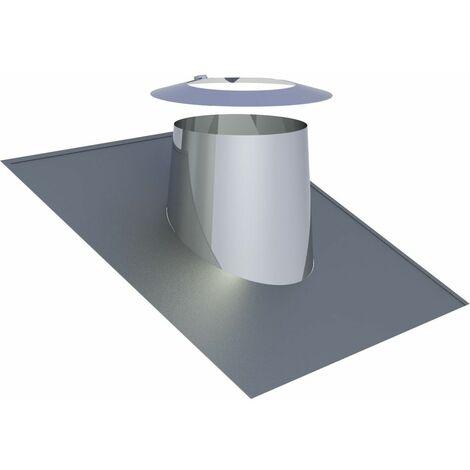 Solin de toit Diam 150 mm inclinaison 16-25°