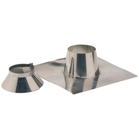 Solin inox 0° a 10° + collet O125-180