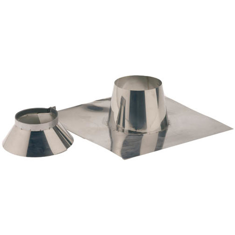 Solin inox 0° a 10° + collet O153-200