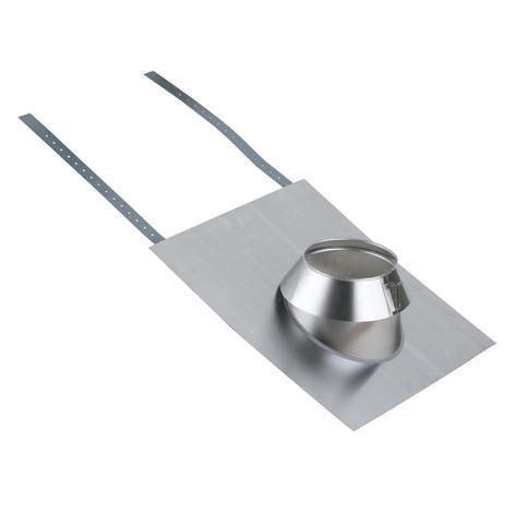 Solin inox 15 à 30° tuile avec collerette THERMINOX TI - Diamètre : 130