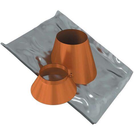 Solin inox 5° à 30° brun BIOTEN + collet 125