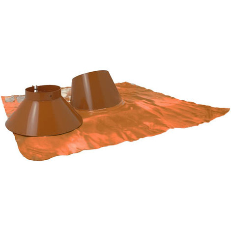 Solin inox 5° a 30° brun BIOTEN + collet 150