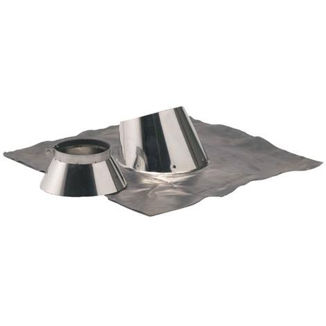 Solin inox 5° a 30° + collet O130