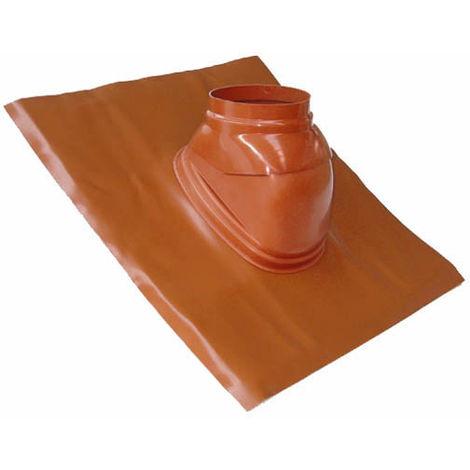 Solin plomb pour pente de 25 a 45° brun-orangé avec rotule