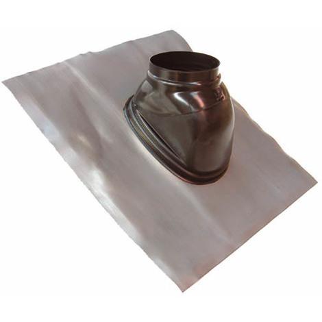 Solin plomb pour pente de 25 à 45° noir avec rotule Ø150