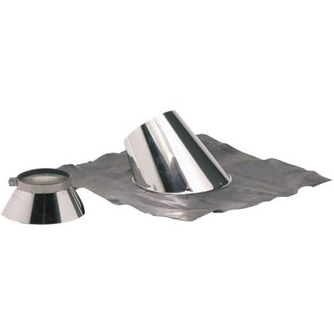 Solin plomb pour pente de 30 a 45° O180-230+collet inox
