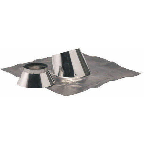 Solin plomb pour pente de 5 a 30° O125-180+collet inox