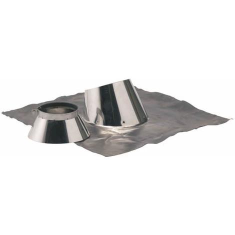 Solin plomb pour pente de 5 a 30° O139-200+collet inox