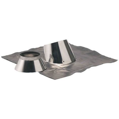 Solin plomb pour pente de 5 a 30° O230-280+collet inox