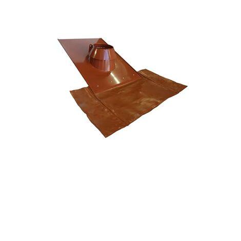 Solin Tuiles PGI 80/130 - Angle 15 à 30° Couleur rouge - Diamètre int. : 80 / Diamètre ext. : 130
