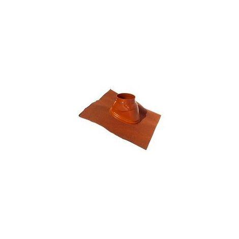 Solin pour terminal avec bavette standard 500 x 500 25° à 45° Ubiflex diamètre 80 / 125 Ocre