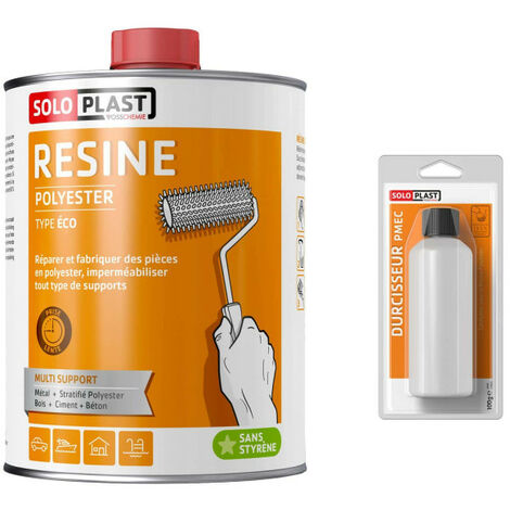 Soloplast polyester resin type eco 2KG - with hardener